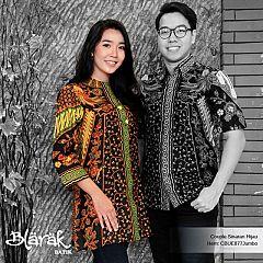 Atasan Wanita Tunik Jumbo Batik Blarak  9009