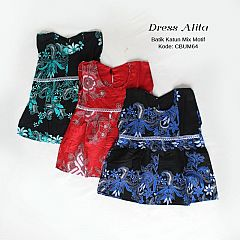 Baju Balita Dress Batik Alita Mix Motif