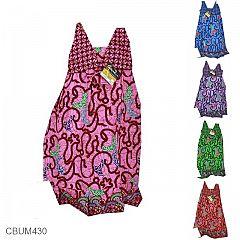 Baju Batik Anak Dress Aura Katun Motif Kawung Usus Size L