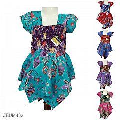 Baju Batik Anak Avi Motif Vas Gentong Size L