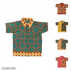 Baju Batik Anak Motif Kawung Tumpal Size 0