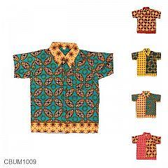 Baju Batik Anak Motif Kawung Tumpal Size S