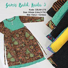 Baju Batik Anak Gamis Kaila Abstrak