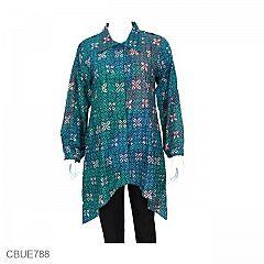 Baju Batik Blus Panjang Katun Kawung
