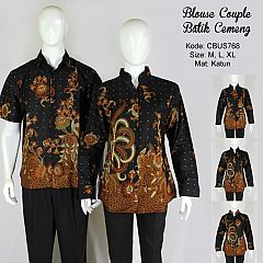 Baju Batik Blus Couple Cemeng