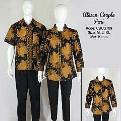 Baju Batik Blus Couple Pari