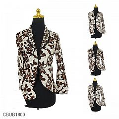 Baju Batik Bolero Bolak-Balik Motif Kawung Sogan fe11480542