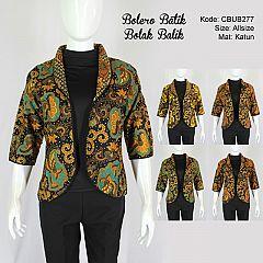 Baju Batik Bolero Bolak-Balik Motif Kembang Truntum