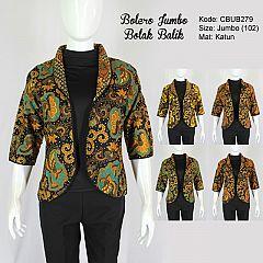 Baju Batik Bolero Bolak-Balik Jumbo Motif Kembang Truntum