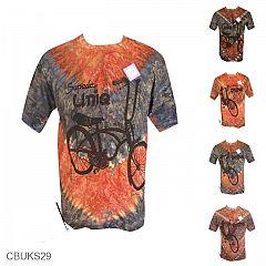 Baju Batik Casual Kaos Motif Lukis Pelangi