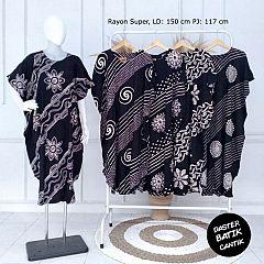Baju Batik Daster Motif Mawar Kembang Mini