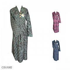 Baju Batik Gamis Motif Kawung Petai