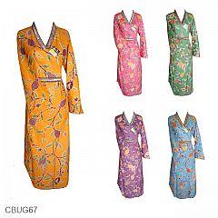 Baju Batik Gamis Cantik Motif Kembang Sakura