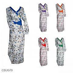 Baju Batik Gamis Motif Bunga Kumis Kucing