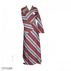 Baju Batik Gamis Motif Parang Kitiran PROMO!