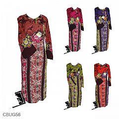 Baju Batik Gamis Motif Tebu Kembang Jagung