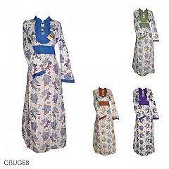 Baju Batik Gamis Motif Kupu Cenderawasih