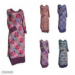 Baju Batik Gamis Motif Batik Ceplok Pelangi