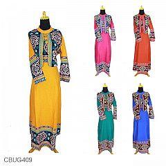Baju Batik Gamis Motif Songket