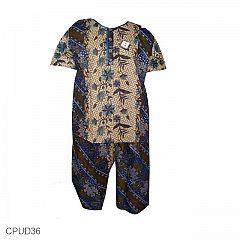 Baju Batik GoGo Babydoll Motif Tumpal Kembang Kriting PROMO!