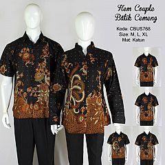 Baju Batik Hem Couple Cemeng