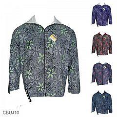 Baju Batik Jaket Motif Bunga Sepatu