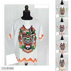 Baju Batik Kaos Dewasa Motif Lukis Barong