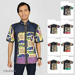 Baju Batik Kemeja Katun Motif Godhong Gandhok