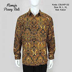 Baju Batik Kemeja Panjang Motif Pisang Bali