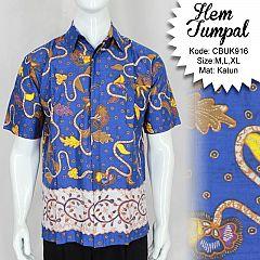 Baju Batik Kemeja Bunga Tumpal