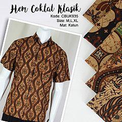 Baju Batik Kemeja Coklat Klasik
