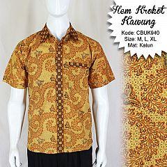 Baju Batik Kemeja Motif Krokot Kawung