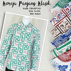Baju Batik Kemeja Panjang Motif Kembang Banji
