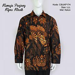 Baju Batik Kemeja Panjang Motif Kipas Klasik LLL
