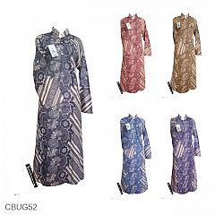 Baju Batik Longdress Motif Siput Kembang Caesar