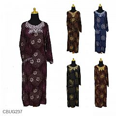 Baju Batik Longdress Santhung Motif Kembang Kotemporer