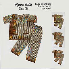 Baju Batik Piyama Anak Motif Salur M