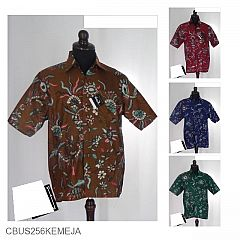Baju Batik Sarimbit Motif Kembang Mahkota Bulu