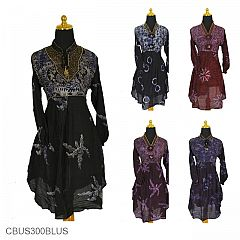 Baju Batik Sarimbit Dress Exklusif Motif Cap Rumput Laut