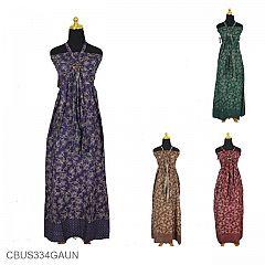 Baju Batik Sarimbit Gaun Motif Gringsing Krokot