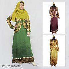 Baju Batik Sarimbit Gamis Motif Katulistiwa