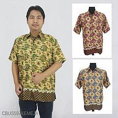 Baju Batik Sarimbit Kemeja Motif Katulistiwa