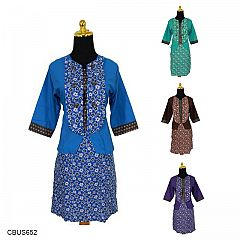 Baju Batik Sarimbit Dress Katun Motif Ceplok Bintang