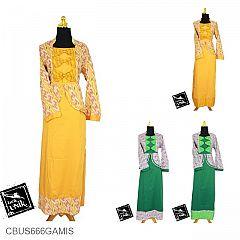 Baju Batik Sarimbit Gamis Motif Anyaman