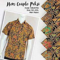 Baju Batik Sarimbit Kemeja Motif Peksi Kelan
