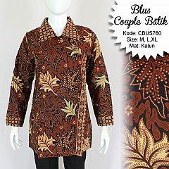 Baju Batik Sarimbit Blus Motif Daun