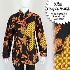 Baju Batik Sarimbit Blus Motif Pulau