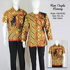 Baju Batik Sarimbit Kemeja Motif Kawung