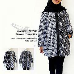 Blouse Batik Ayodia Saku Resleting Depan