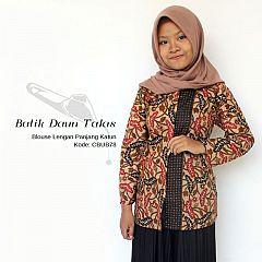 Blouse Batik Katun Motif Daun Talas